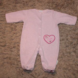 Baby by BusterBrown Pink Footed Onesie